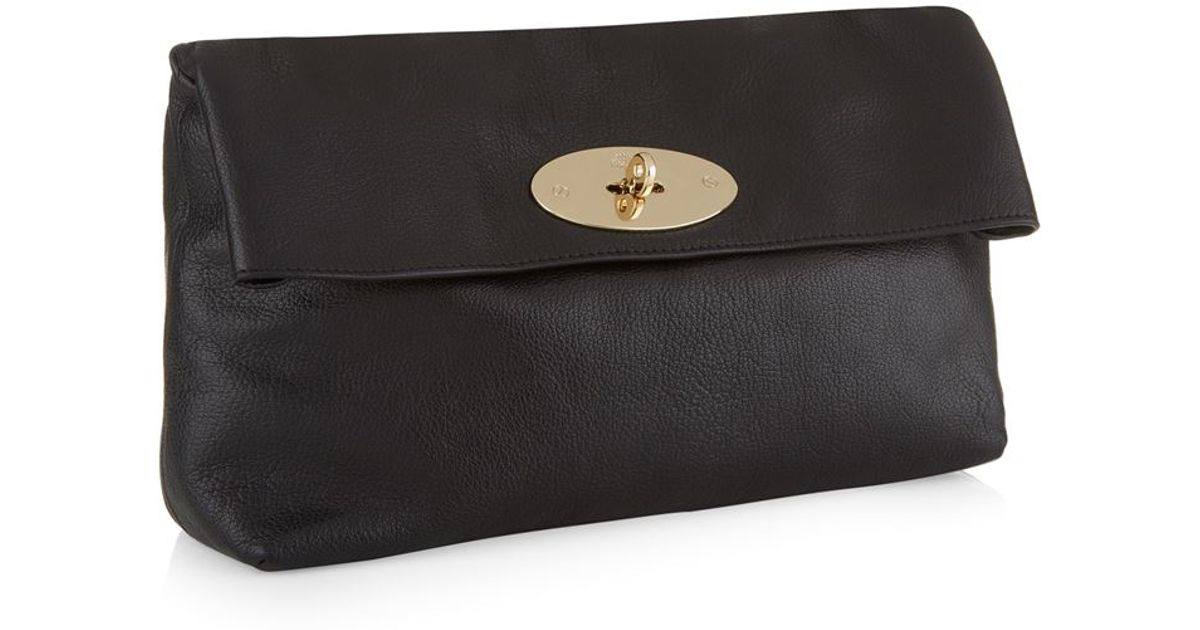 fd95665a8265 Mulberry Clemmie Glossy Goat Clutch in Black - Lyst
