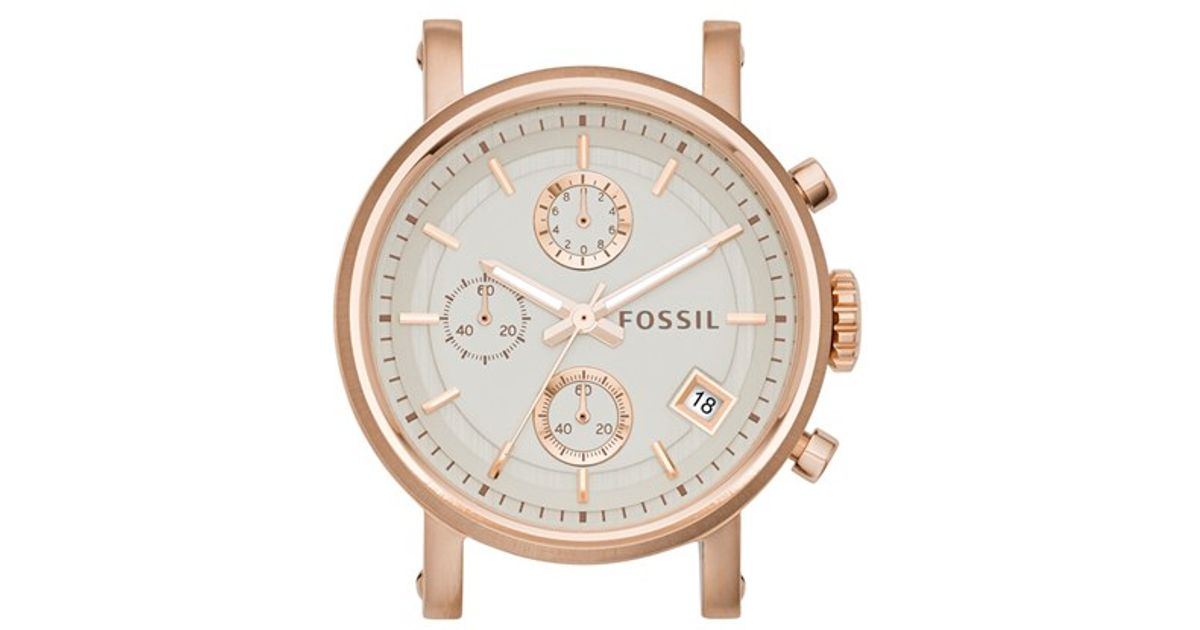 fossil 39 original boyfriend 39 watch case in gold rose gold lyst. Black Bedroom Furniture Sets. Home Design Ideas