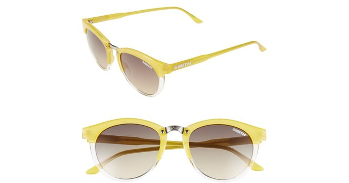 39c8538e38 Lyst - Smith Optics  questa  49mm Cat Eye Sunglasses - Lemon Crystal  Brown  Gradient in Yellow
