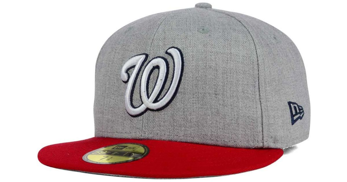 2063cfe849f ireland lyst ktz washington nationals heather team color 59fifty cap in  gray for men fc460 9b3a8