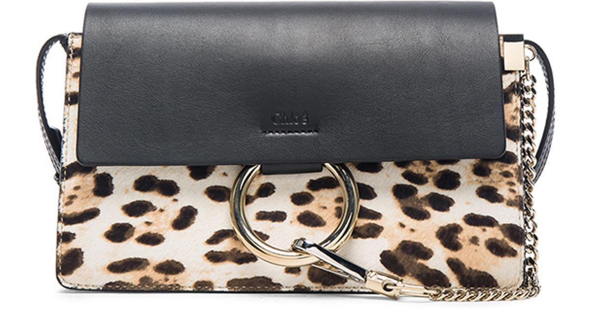 Chloé Leopard Lyst Faye Small Print Multicolor Bag PiuwZOTkX