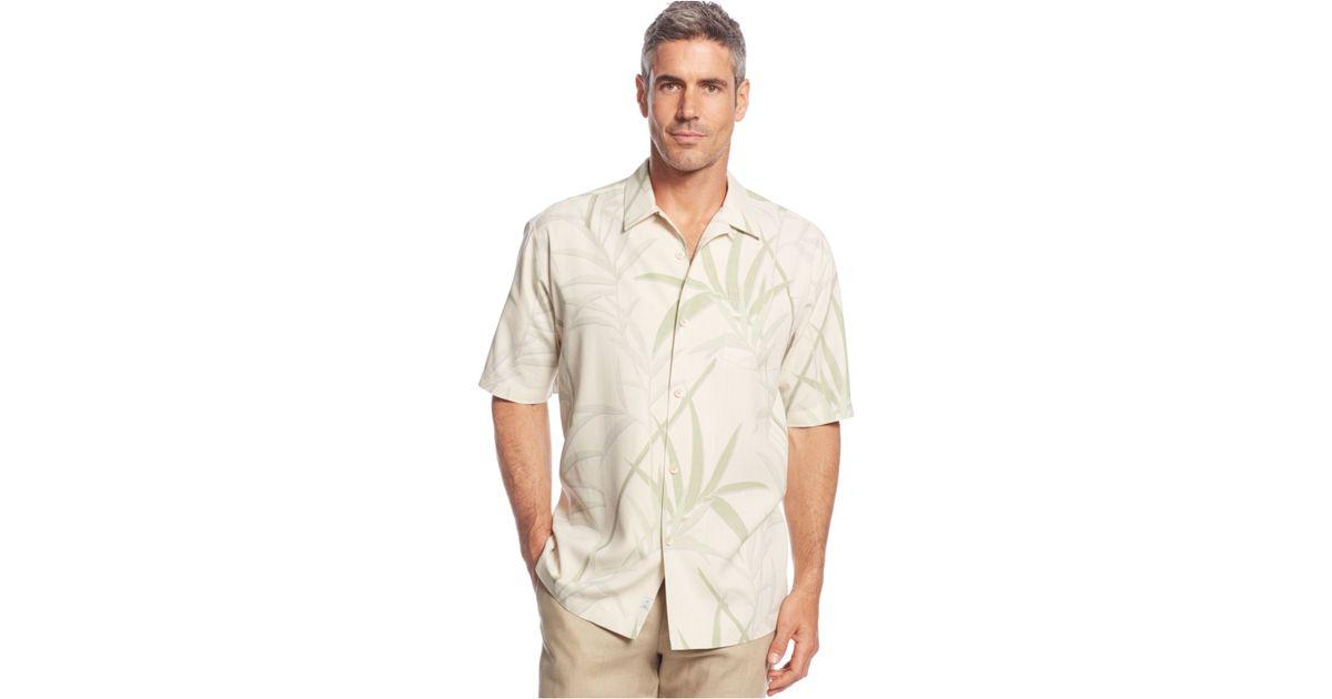 Tommy Bahama Vine Print Silk Shirt In White For Men Lyst
