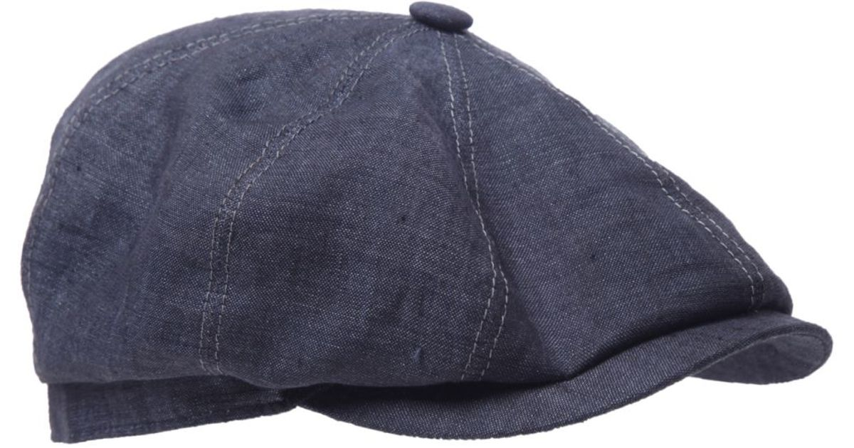 131ebc9b Stetson Hatteras Linen Cap in Blue for Men - Lyst