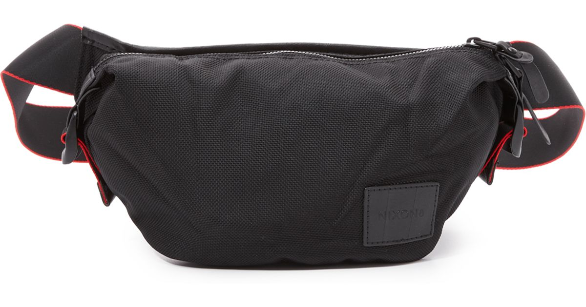 e5ffbdf7ba Nixon tracker hip pack in black for men lyst jpeg 1200x630 Nixon shoulder  bag