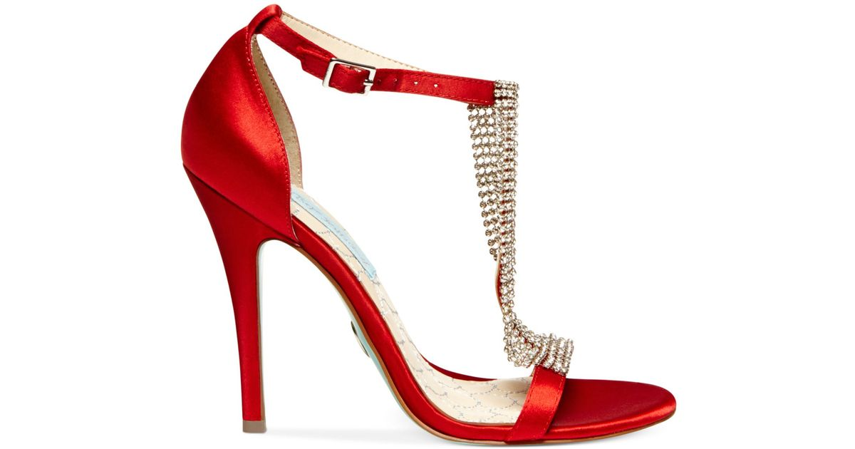 9449d9246 Betsey Johnson Blue By Mesh Evening Sandals in Red - Lyst
