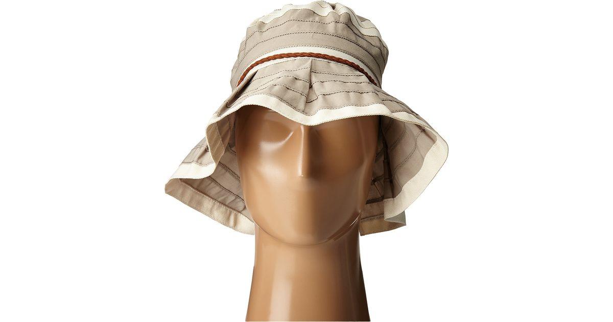 fd48e863f50 Lyst - San Diego Hat Company Rbm5560 4 Inch Brim Sun Hat With Faux Suede  Braided Trim in Gray