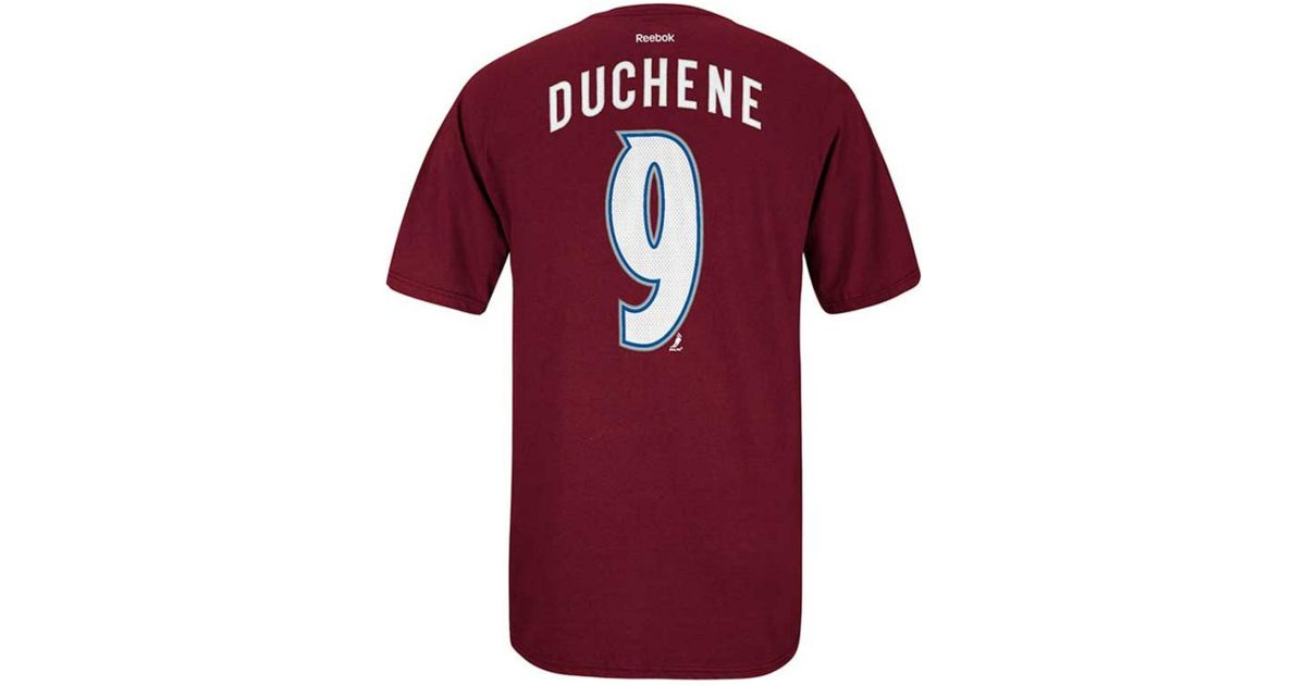 100% authentic c7f97 7a4a5 Lyst - Reebok Men s Short-sleeve Matt Duchene Colorado Avalanche Nhl Player  T-shirt in Purple for Men