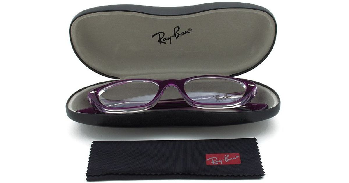 Eyeglass Frame Size 51 : Ray-ban Rx 5242 5254 Rectangular Eyeglass Frames Purple ...
