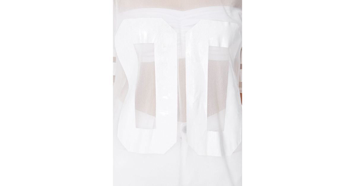 Lyst - Missguided Hugette White American Football Mesh T-Shirt in White 1c4492aa8