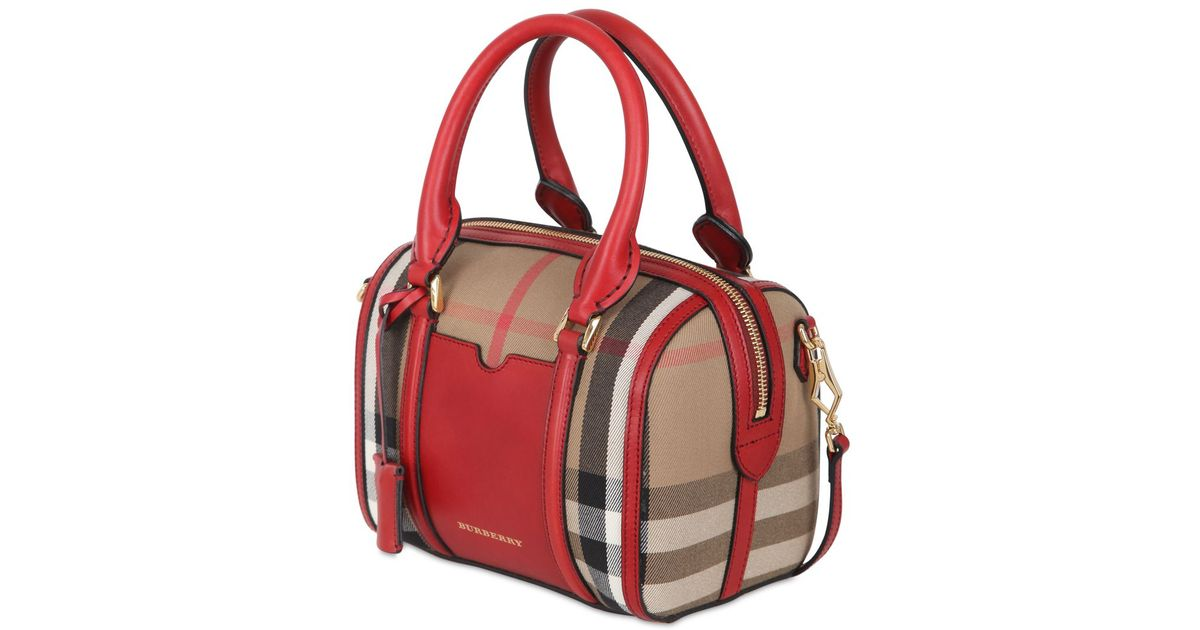 Lyst - Burberry Small Alchester Bridle House Check Bag 2a3c74a2ac
