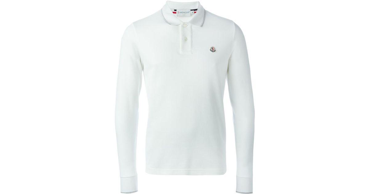 48171903516d wholesale white long sleeve polo shirt 1aca4 10b23