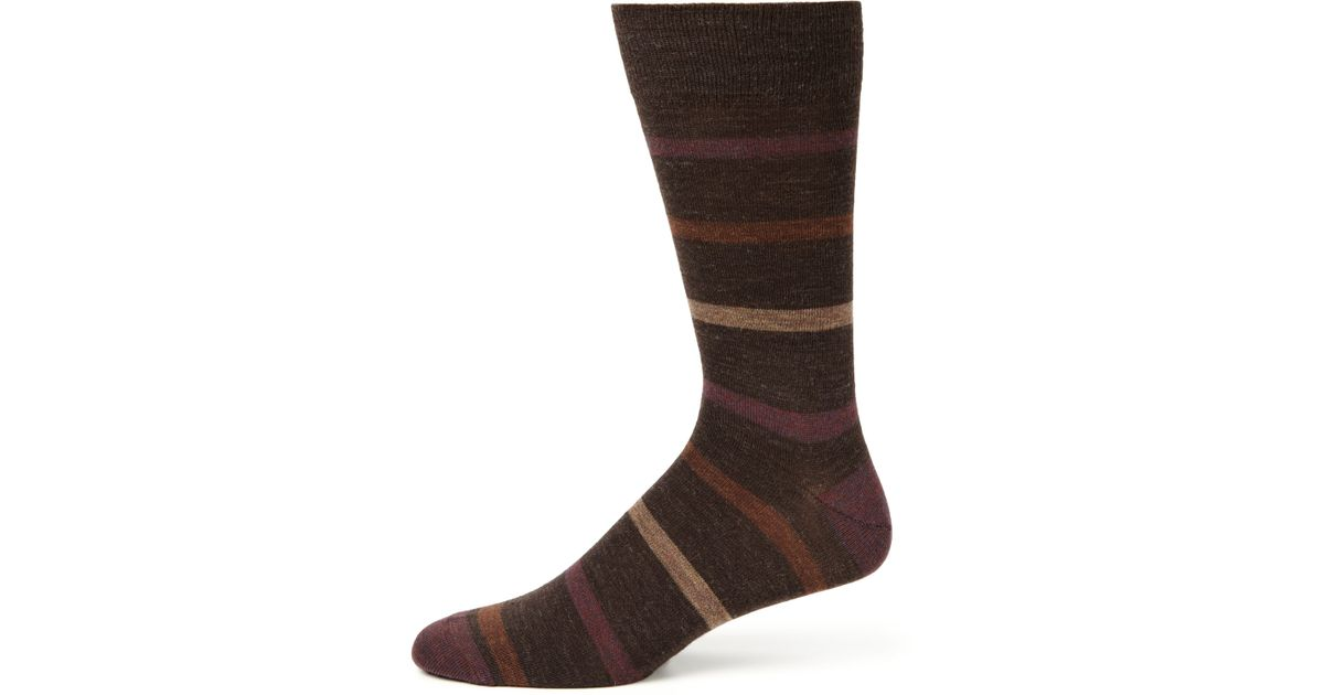 The Merino Wool collection is a staple for the professional man's wardrobe. A soft, natural fiber capable of wicking away moisture, merino wool provides comfort in both cool and warm weather. This collection includes mid-calf and over-the-calf length socks, in both solid and patterned styles.
