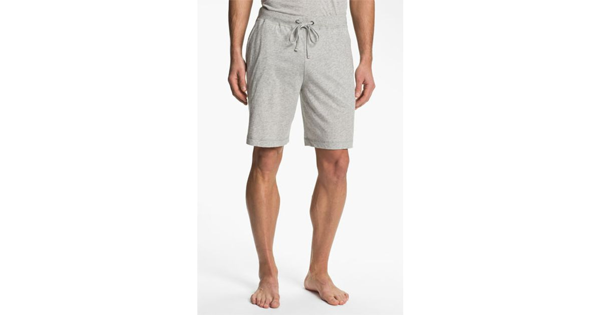 Daniel Buchler Peruvian Pima Cotton Shorts In Gray For Men