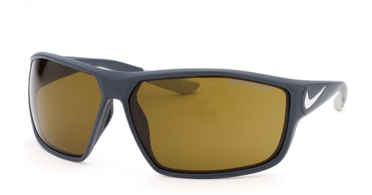802e82035d Lyst - Nike Men s Ignition Rectangle Grey Sunglasses in Black for Men