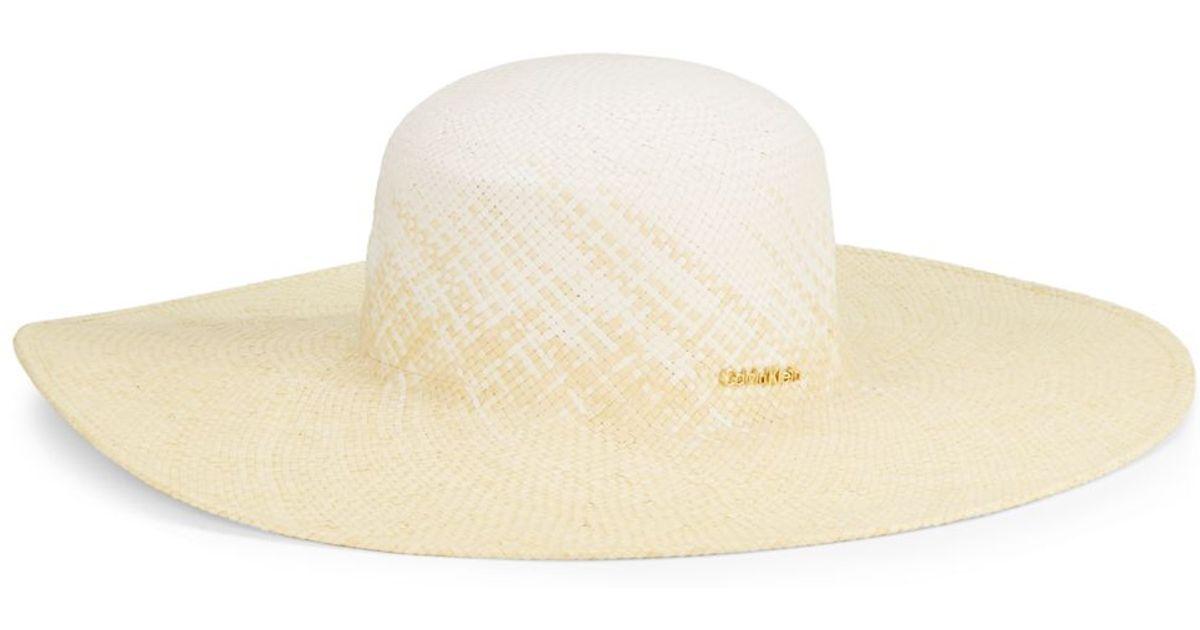 Lyst - Calvin Klein Ombre Sun Hat in Natural 39e5374b8b4