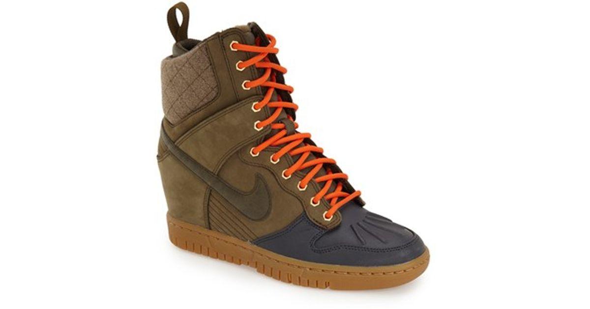 6964780e779 Lyst - Nike  dunk Sky Hi  Wedge Sneaker in Green