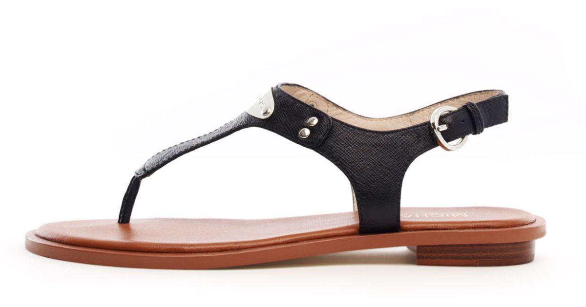 8d5fc239c4b Lyst - MICHAEL Michael Kors Flat T-strap Thong Sandal in Black