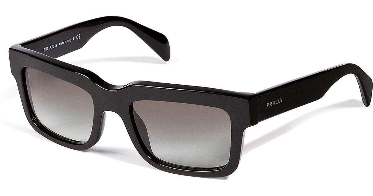 dbc0a4694237c Prada Square Frame Gradient Sunglasses in Black for Men - Lyst