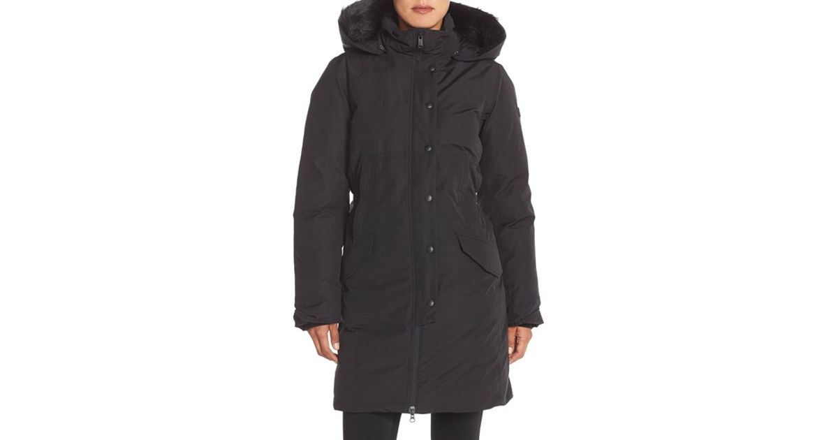 The north face 'shavana' Waterproof Down Parka in Black | Lyst