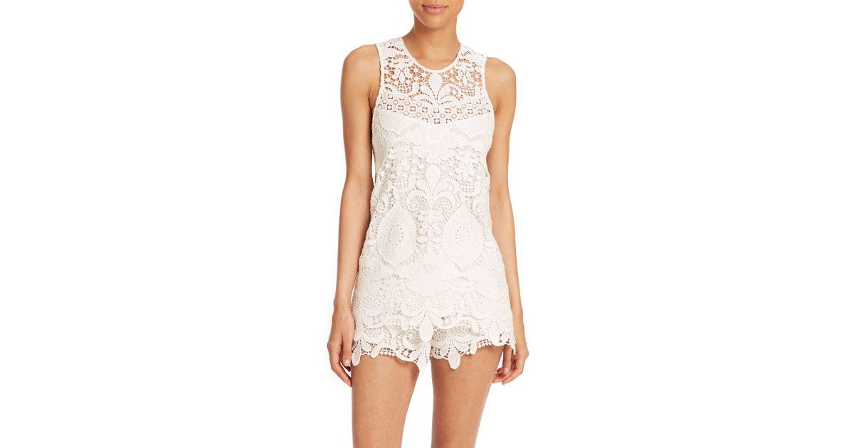 7c93c27b Alexis Ji Cross-Back Crochet Top in White - Lyst