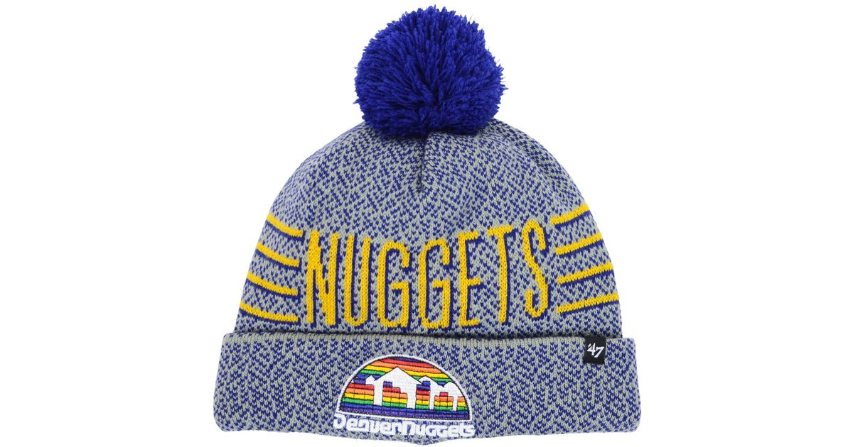 low priced 90672 e5ad1 ... buy release date lyst 47 brand denver nuggets mezzo knit hat in gray  for men 762e4