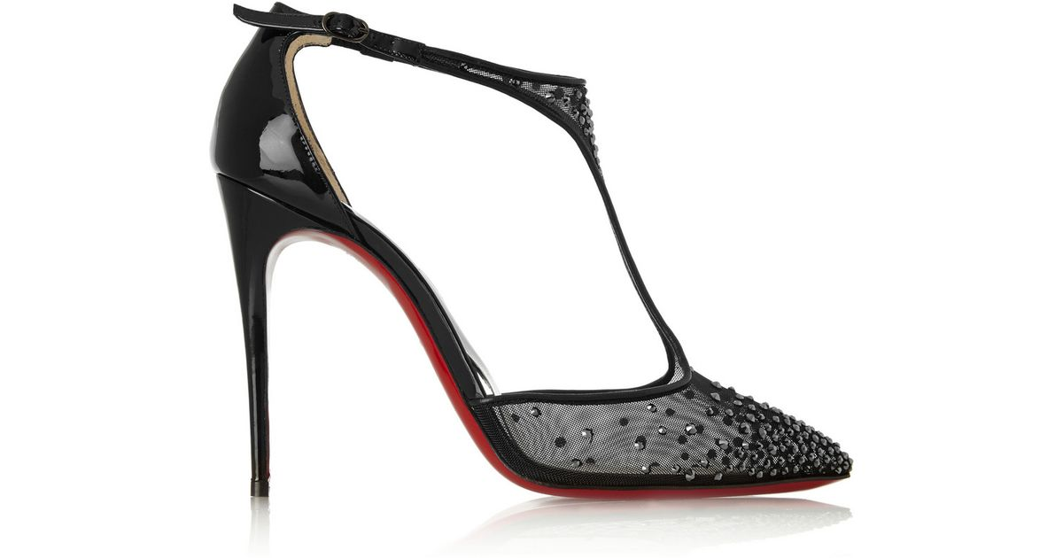 Christian louboutin Salopatina Embellished Patent Leather Pumps in ...