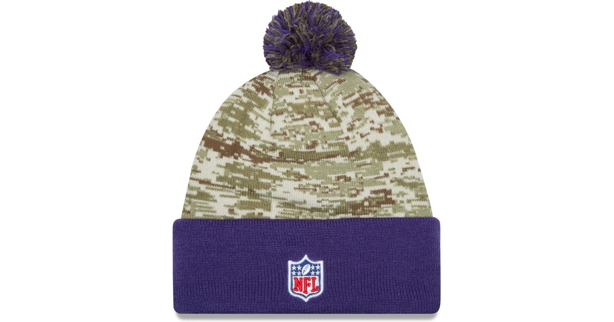 155846a5ff8 Lyst - KTZ Minnesota Vikings Salute To Service Knit Hat in Green for Men
