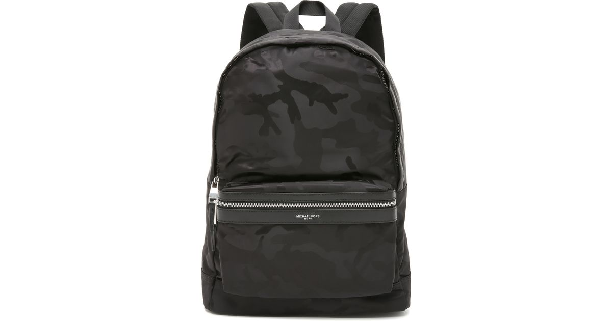 3d9ff41aa429 Lyst - Michael Kors Kent Camo Nylon Backpack in Black for Men