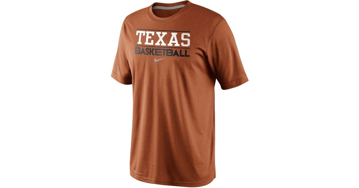 official photos 24346 5aab3 Nike - Orange Men'S Texas Longhorns Team Issue Basketball Practice T-Shirt  for Men - Lyst