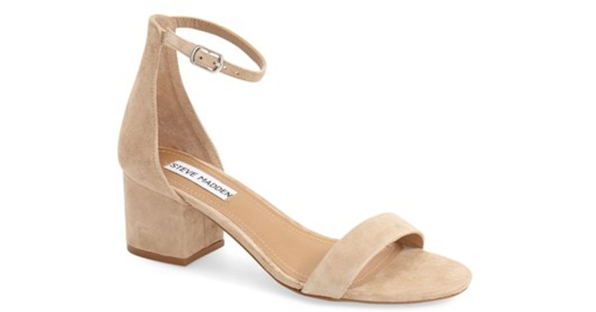 cc27a8b62f9 Lyst - Steve Madden  irenee  Ankle Strap Sandal in Natural
