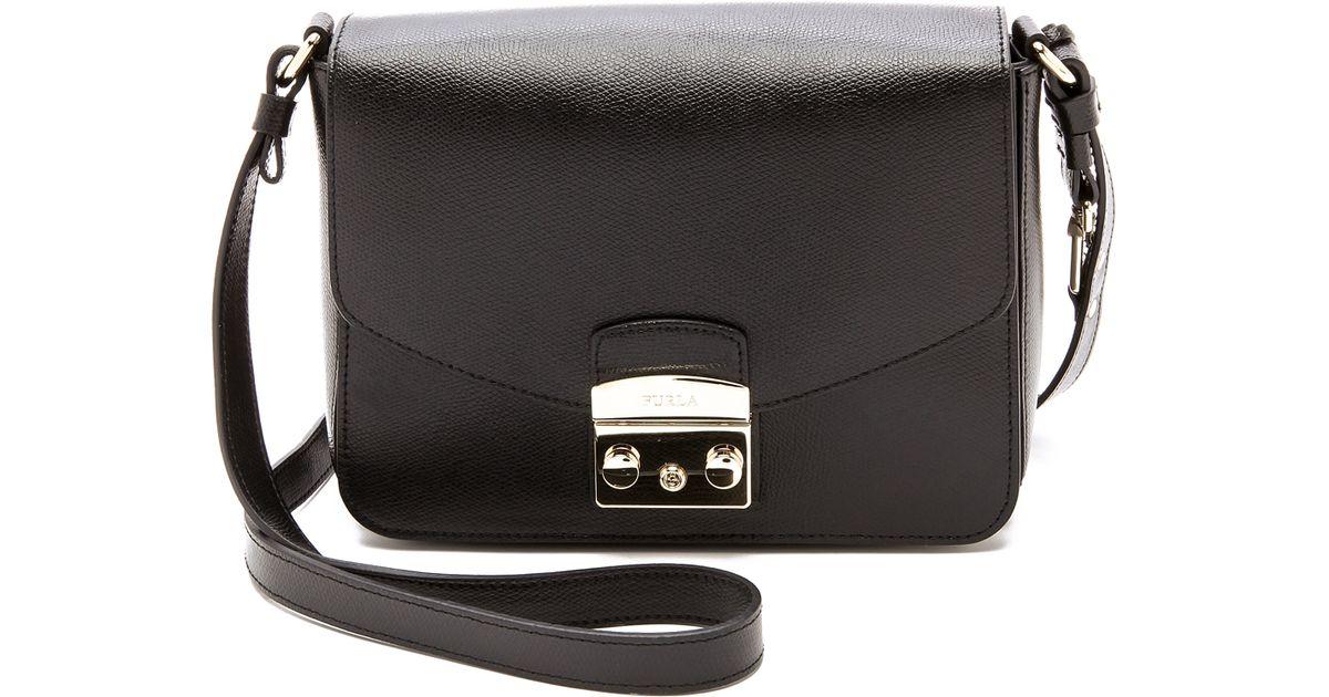 0818c6c0fd4db Lyst - Furla Metropolis Shoulder Bag - Onyx in Black
