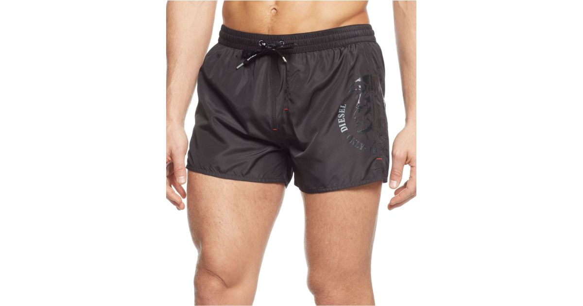 6a3c206120 DIESEL Bmbx-Coralrif Swim Trunks in Black for Men - Lyst