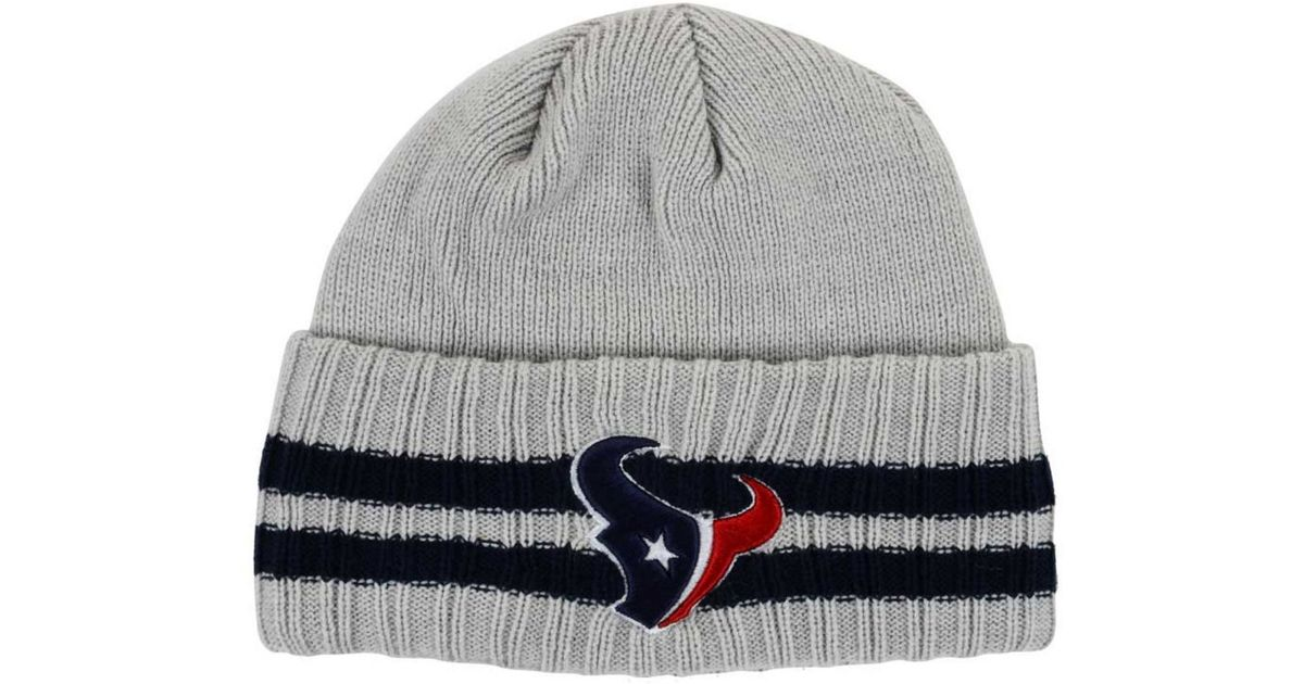 1270020fd36 ... best price lyst ktz houston texans striped cuff knit hat in gray for men  e7e86 c5b85
