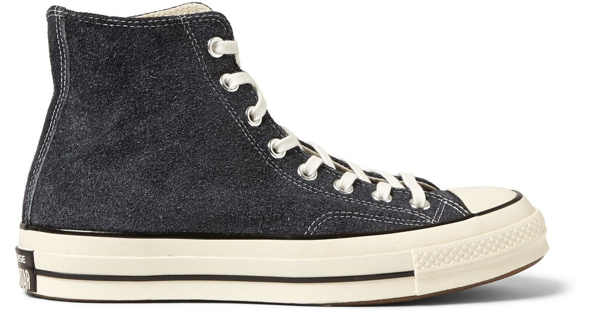 ab95aa4cbc6 Lyst - Converse 1970s Chuck Taylor Suede High-Top Sneakers in Black for Men