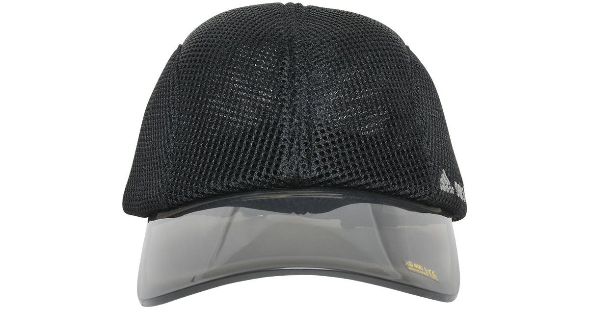 ae24ca3cbce Lyst - adidas By Stella McCartney Mesh   Pvc Running Hat in Black