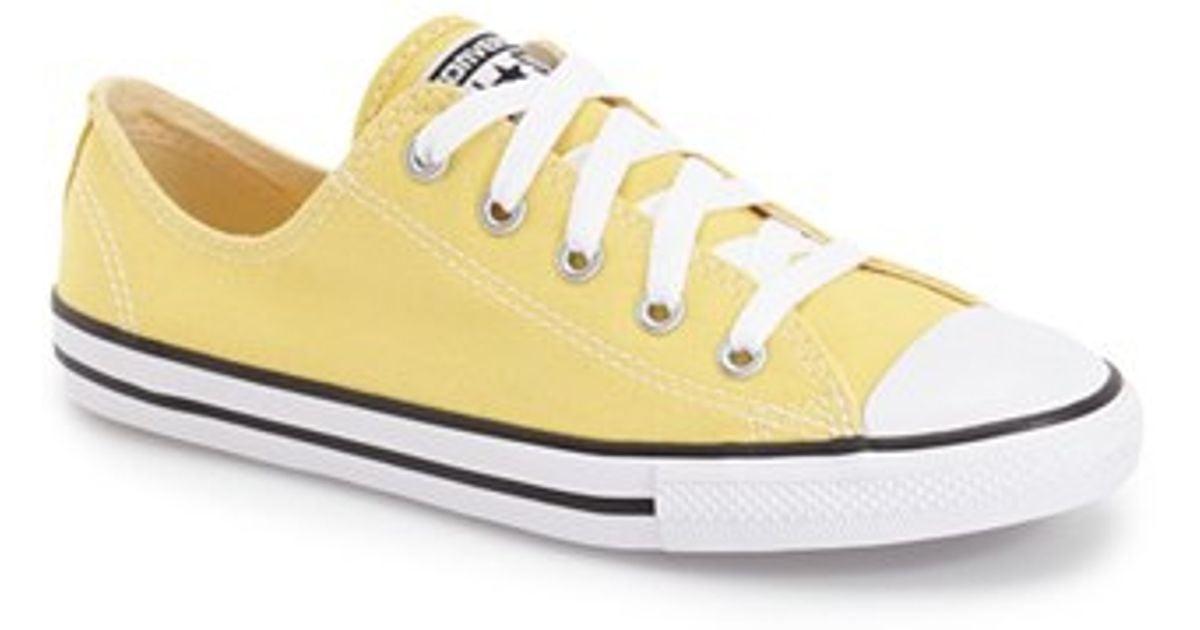 e42fee3da3c7 Lyst - Converse  seasonal Dainty  Chuck Taylor All Star Low Top Sneaker in  Yellow