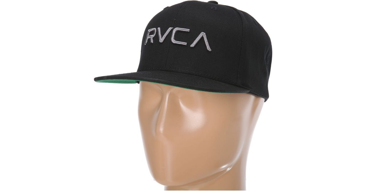 outlet store b4659 58182 RVCA Twill Snapback Hat Ii in Black for Men - Lyst