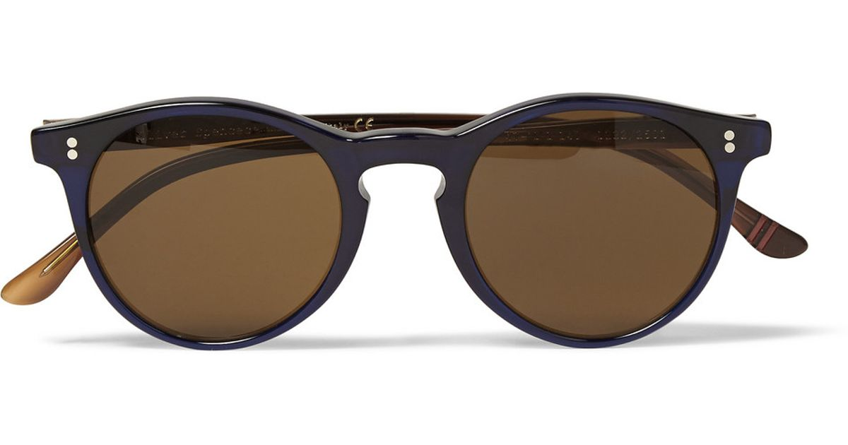b3ff0a970b5e3 Oliver Spencer Sid Roundframe Acetate Sunglasses in Blue for Men - Lyst