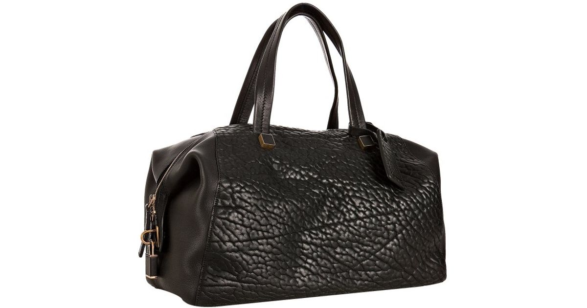C¨¦line Black Pebbled Leather Boston Bag in Black | Lyst