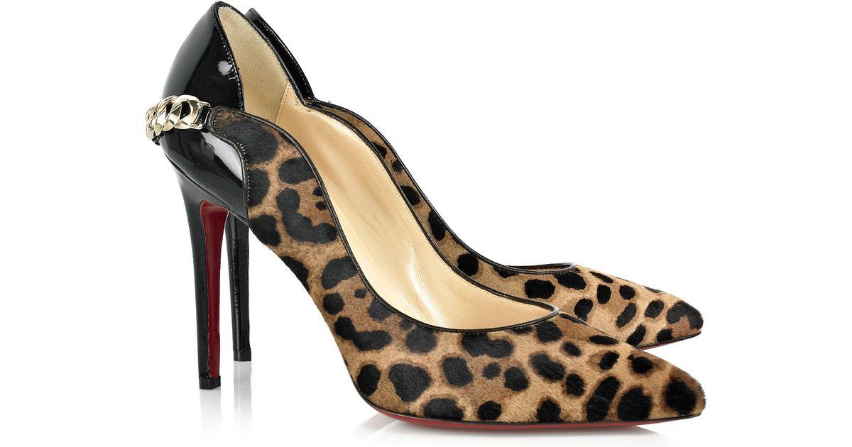 cheap louis vuitton shoes men - Christian louboutin Dorepi 100 Leopard-print Pumps in Animal ...