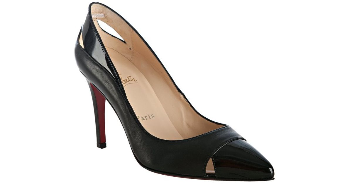 chris louboutin website - Christian louboutin Otrot Napa Fringe Red Sole Pump in Black | Lyst