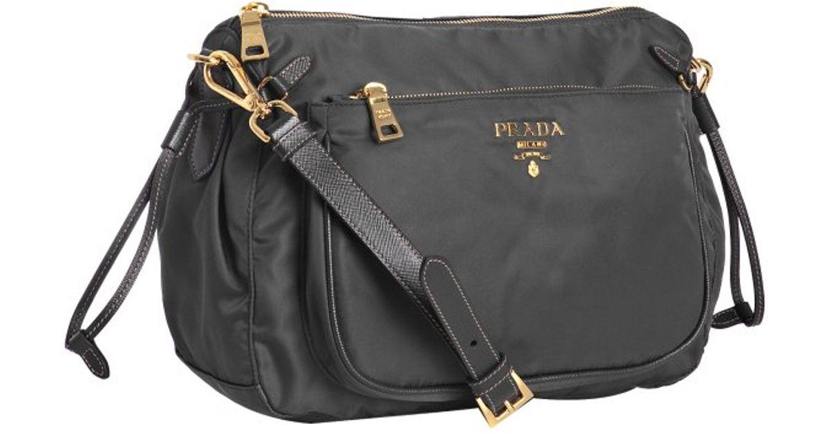 where can i buy prada fabric shoulder bag prada slate nylon gabardine patch  pocket shoulder bag 36747339f750d