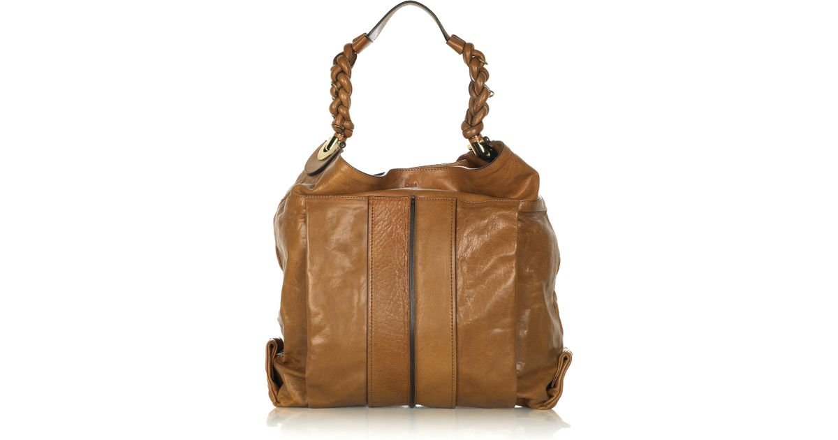 ff4be45c1d41 Lyst - Chloé Heloise Leather Hobo Bag in Natural