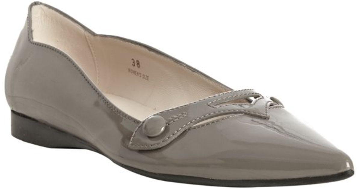 Tod's Leather Cutout Flats with credit card online IDA7Sg
