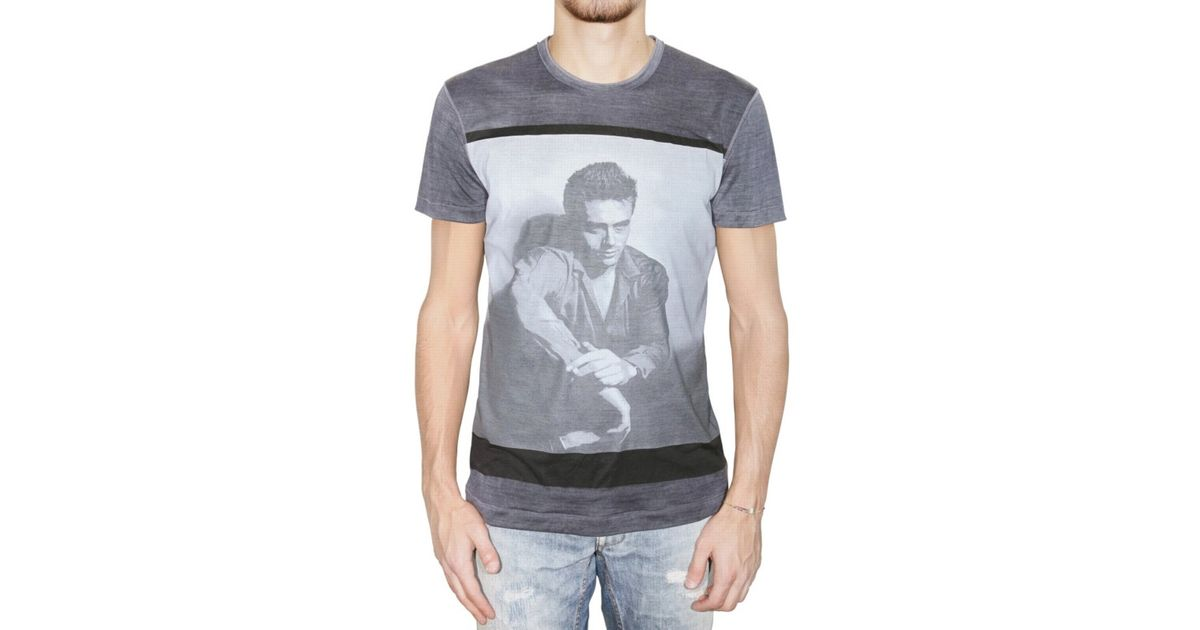793eebf5d1fdae Dolce & Gabbana James Dean Silk Jersey T-shirt in Blue for Men - Lyst