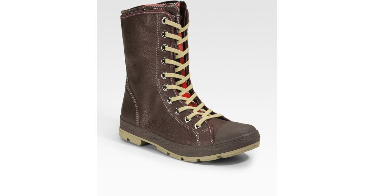 d9877b2fd99bb5 Lyst - Converse Chuck Taylor Woolrich Outsider Boots extra-high in Brown  for Men