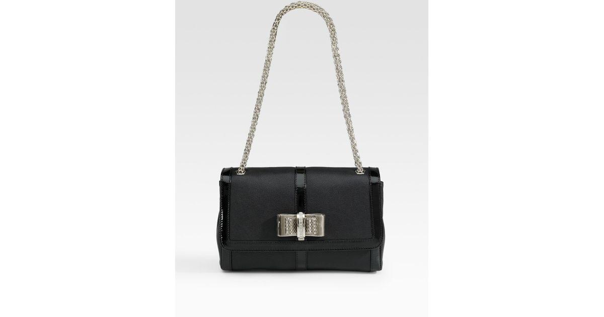 02be55e8ac7 Christian Louboutin - Black Sweet Charity Small Capra Mini Bag - Lyst
