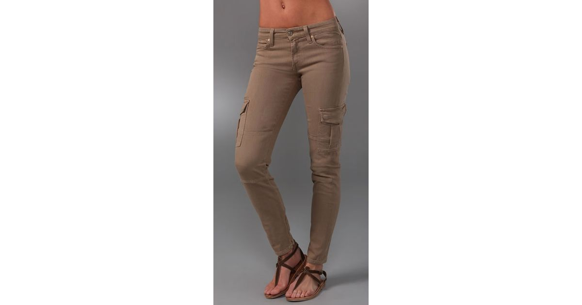 2a09ebb87a28fc Vince Ankle Cargo Skinny Jeans in Green - Lyst