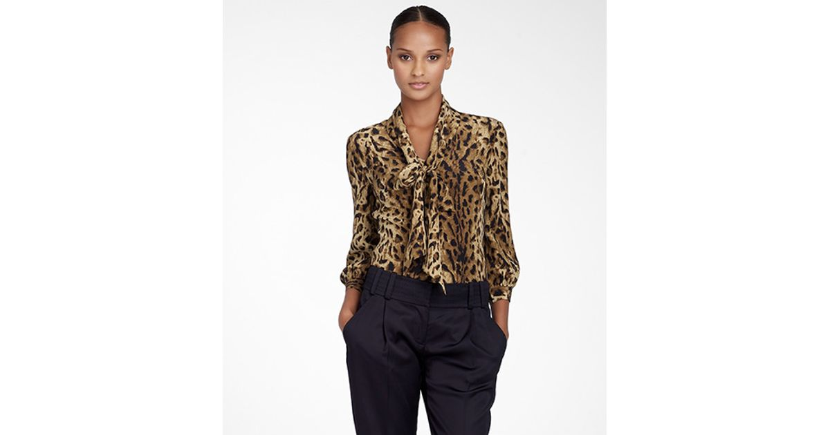 7e89f46ff108 Lyst - Tory Burch Bow Blouse