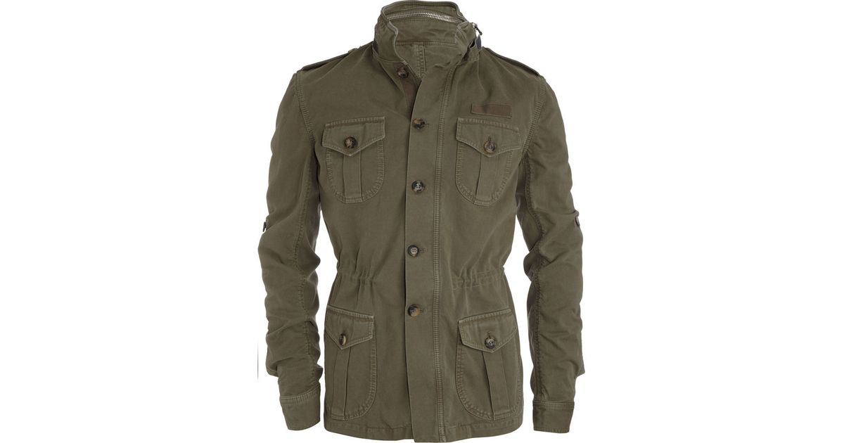 0fdfc87fa33 Michael Bastian Washed Military Jacket in Green for Men - Lyst